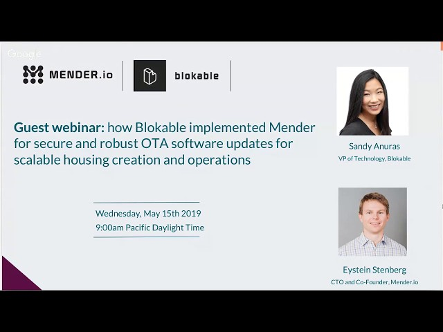 How Blokable Uses Mender for OTA Updates for Scalable Housing Creation
