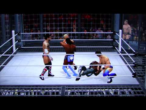 WWE '12 Elimination Chamber Sim - WWE Title Chamber Match pt1