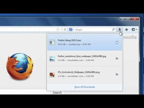 Find and manage downloaded files in Firefox