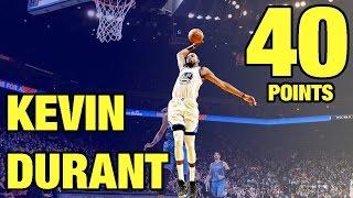 getlinkyoutube.com-Kevin Durant 40 Points vs Oklahoma City Thunder   01.18.17