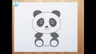 getlinkyoutube.com-How to draw a panda bear