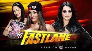 WWE FastLane 2015 Paige vs Nikki Bella For The Divas Championship Full Match