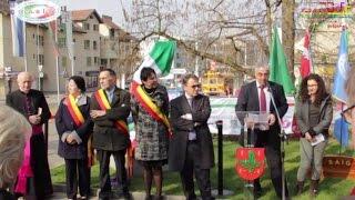 Chene-Bourg - Inaugurazione Monumento all'emigrazione Italiana