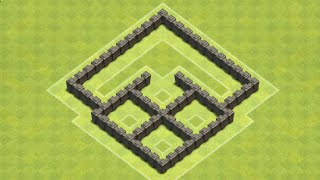 getlinkyoutube.com-TH4 Trophy/War base (4Square) Anti Barb, with replay