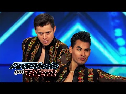 John & Andrew: Same-Sex Salsa Couple Get Howard Stern & Howie Mandel to Dance - America's Got Talent