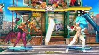 getlinkyoutube.com-Street Fighter X Tekken PC - MORRIGAN - FELICIA