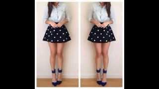 getlinkyoutube.com-Outfits!! Falda Circular!!
