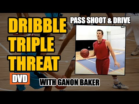 Dribble Triple Threat - Ganon Baker - Pass Shoot Drive on The Bounce!