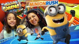 getlinkyoutube.com-FGTEEV Mom & Lex play Minion Rush - Subway Surfers! Who can run longer?!?! Vs. Battle