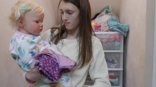 getlinkyoutube.com-Reborn Toddler Laura's Daycare Morning Routine! Getting Laura Ready For Daycare