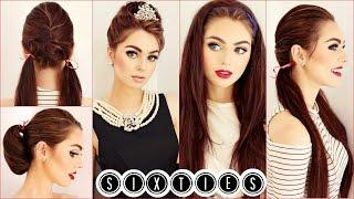 getlinkyoutube.com-Audrey Hepburn Hair Tutorial | Easy & Cute 60's Hairstyles | Jackie Wyers