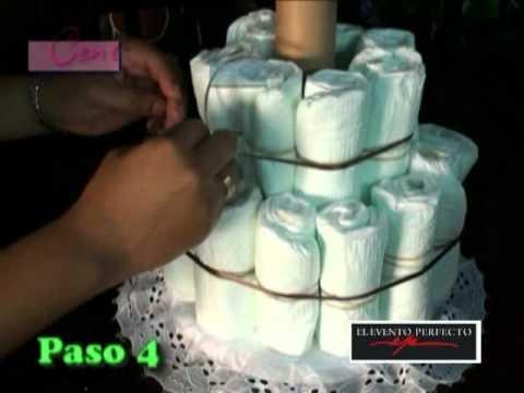 Hazlo tu misma: Pastel de pañales