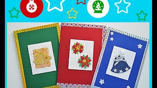 getlinkyoutube.com-Tarjetas de Navidad hechas a mano fáciles -  2015