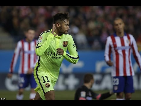 Neymar Dançando a musica do TIRULIPA SHINERAY || Barcelona x Atletico de Madri .