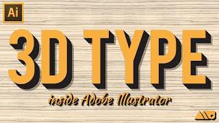getlinkyoutube.com-How-To Create 3D Type in Adobe Illustrator Tutorial