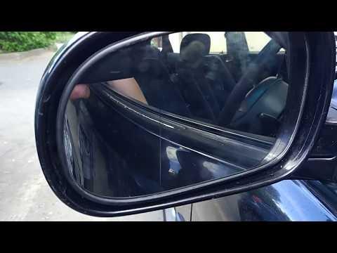 Замена зеркального элемента бокового зеркала Honda Accord V CF1 97 года выпуска.