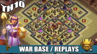 getlinkyoutube.com-Clash of Clans | TH10 CLAN WAR BASE w/ DEFENSE REPLAYS