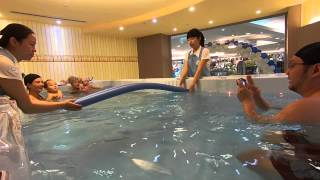 getlinkyoutube.com-HTC RE TEST BABY SWIMMING - BY BABY FISH 親水會館