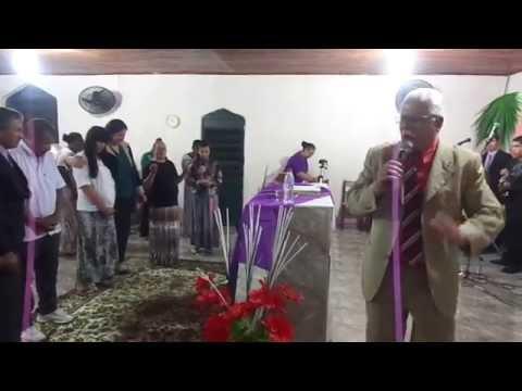 Pastor Eliseu Silva Pregando na Congregação da Vila Block -São Sepé-RS