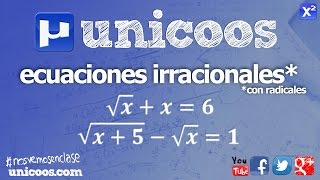 Imagen en miniatura para Ecuación irracional (con radicales)