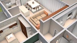 Casa moderna minimalista m x m 220 m video for Casa moderna minimalista interior 6m x 12 50m