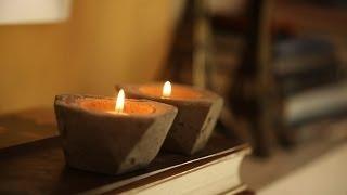 getlinkyoutube.com-DIY Cement Candle Holders | Kin Community