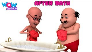 After Bath With MOTU PATLU I Animated Nursery Songs By WowKidz Rhymes
