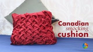 getlinkyoutube.com-How to make : Canadian Smocking Cushion