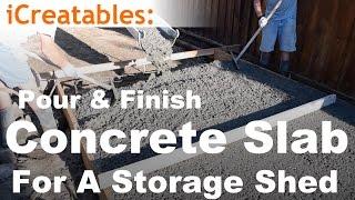 getlinkyoutube.com-How To Pour A Concrete Slab For Your Storage Shed Floor