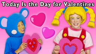 getlinkyoutube.com-Heart Craft Party | Today Is the Day for Valentines and More | Baby Songs from Mother Goose Club!
