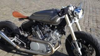 getlinkyoutube.com-Yamaha Virago XV750 Cafe Racer build finished with start