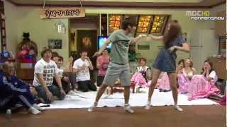 getlinkyoutube.com-Dance Battle -Super Junior, SNSD, f(x)- SO Funny