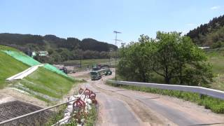 getlinkyoutube.com-全長25mのポールトレーラーのPC橋桁輸送!!次回は43mの鋼製橋桁を輸送する、我社の3車連結特殊トレーラーの動画を流します。【東北急送株式会社】