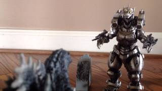 getlinkyoutube.com-Godzilla Vs Kiryu: A Stopmotion Battle