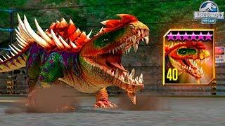 getlinkyoutube.com-NEW STRONGEST HYBRID GORGOSUCHUS MAX LVL 40! - Jurassic World The Game - *GLACIER UPDATE* HD