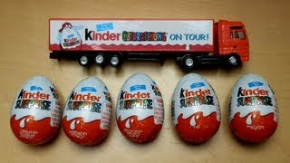 getlinkyoutube.com-Kinder Surpise Eggs & Truck
