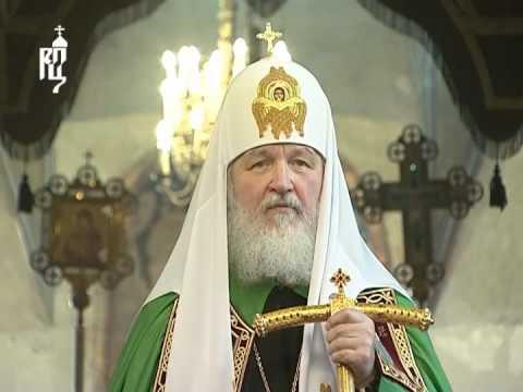 Патриарх совершил литургию в Успенском соборе Кремля