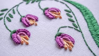 getlinkyoutube.com-DIY Embroidery Ideas | Stitching Flower Design by Hand | HandiWorks #81