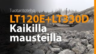 Lokotrack® LT120E™ + LT330D™ - Moreenijaloste Oy