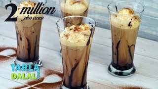 getlinkyoutube.com-Cold Coffee Recipe, Frothy Cold Coffee Recipe by Tarla Dalal