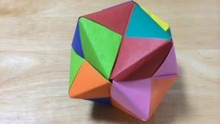 getlinkyoutube.com-折り紙 くす玉 難易度★★★ Origami kusudama Level three