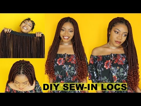 NEW! DIY Goddess Locs Tracks + Sew-in Faux Locs Install | Start to Finish | EASY & Re-usable Crochet