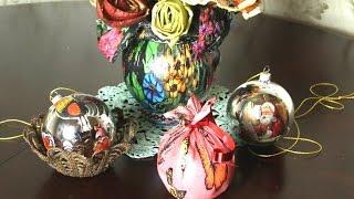 getlinkyoutube.com-Очень красивые новогодние игрушки своими руками 2017   Шары на елку
