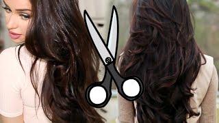 getlinkyoutube.com-How I Cut Layers in My Hair AT HOME!