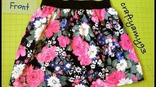 getlinkyoutube.com-DIY Skirt with Elastic Tutorial | Easy and Simple