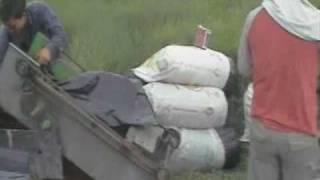 getlinkyoutube.com-Silo prensa J-10 ensilando cana de azucar con lona exterior
