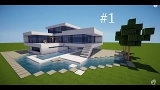 getlinkyoutube.com-#احترف_البناء #1 | كيفية بناء بيت حديث في ماينكرافت ^_^ | How To Build A Modern House In Minecraft