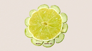 getlinkyoutube.com-Simple And Easy Lime Button Flower - Beginners 65 By Mutita Art Of Fruit And Vegetable Carving Video