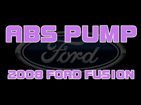 2008 Ford Fusion - ABS Pump And Module Replacement - Brake Pedal Goes To Floor