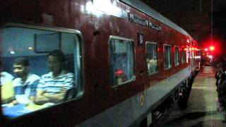 getlinkyoutube.com-FIRST TIME EVER - Bangalore Rajdhani with a LHB rake departs from Bangalore City!